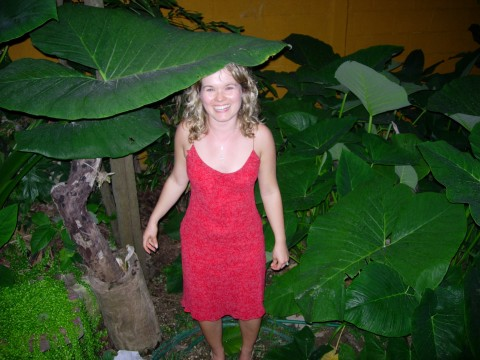 Melissa Fassel Dunn in Playa del Carmen, 2006. Photo by Pete Dunn