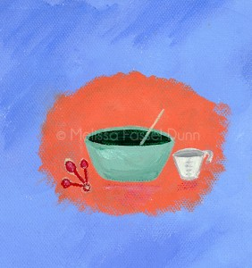 """""""Baking"""" by Melissa Fassel Dunn for the book Meet Miss Molly"""