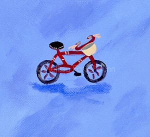 """Red Bicycle"" by Melissa Fassel Dunn for the book Meet Miss Molly"