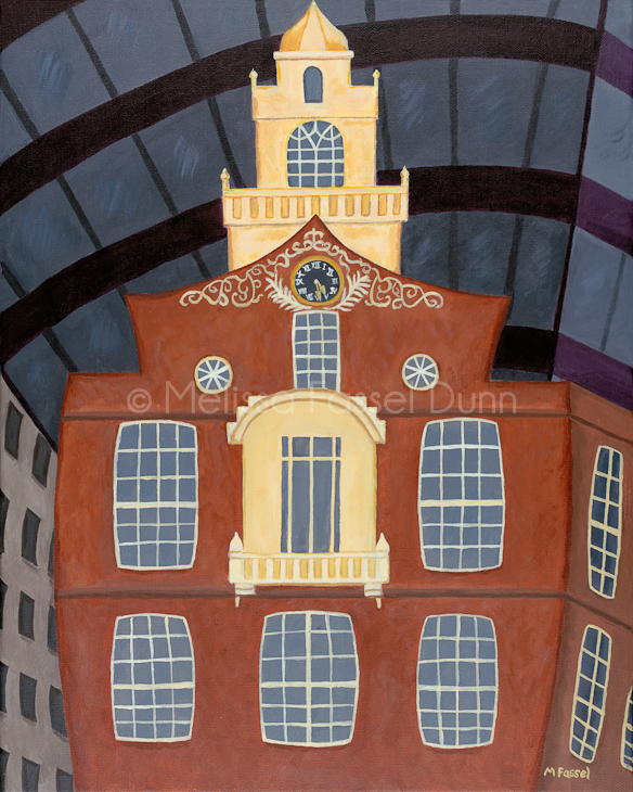 """Ye Old Boston Statehouse"" by Melissa Fassel Dunn"