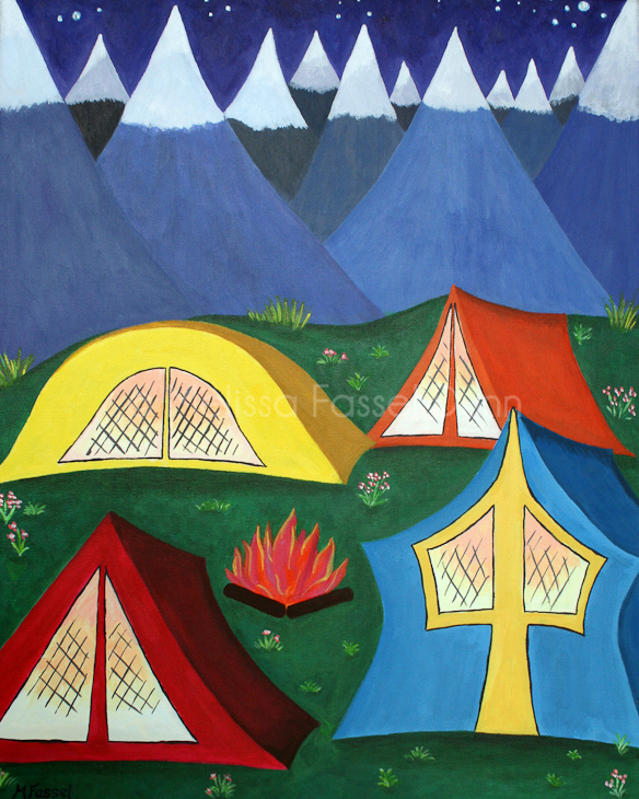 """Camping"" by Melissa Fassel Dunn"