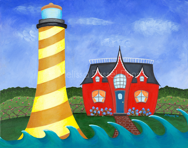 """Lit Up Lighthouse"" by Melissa Fassel Dunn"
