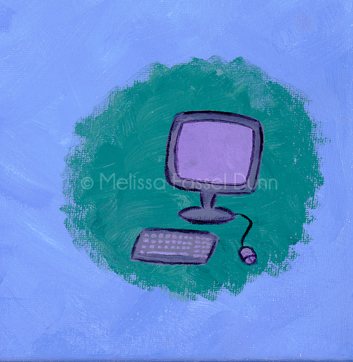 """""""Computer"""" by Melissa Fassel Dunn for the book Meet Miss Molly"""