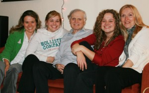 My dad, Lee Fassel, with my sisters, aunt, and me