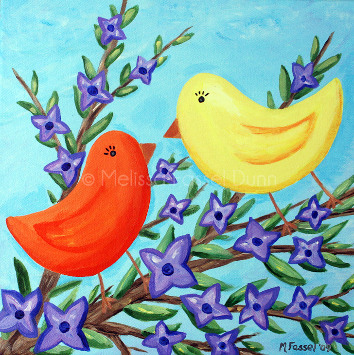 """Lovebirds for Violet"" by Melissa Fassel Dunn"