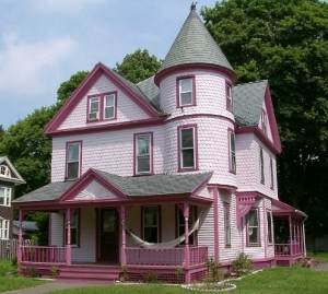 "Pink Victorian home used as inspiration for ""Victoria Rose"""