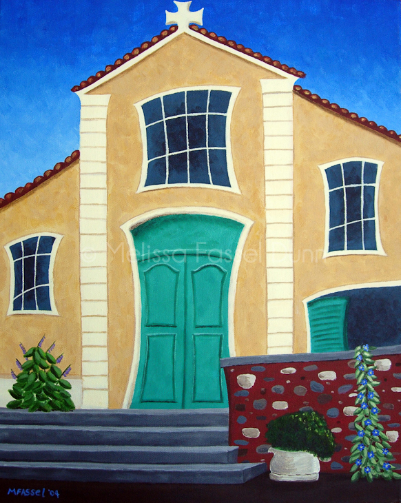 Rouissillon Church painting by Melissa Fassel Dunn