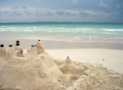 Tulum Sand Castle, 2006. Photo by Melissa Fassel Dunn