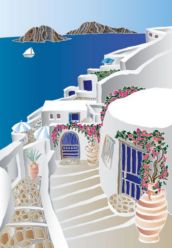 Santorini by Darlene Seale