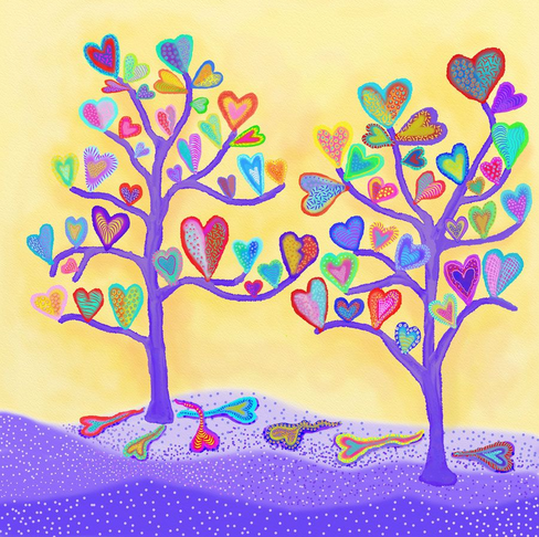 Heart Trees 2 by Artist Darlene Seale