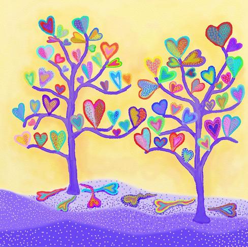 Heart Trees 2 by Artist Darlene Seale