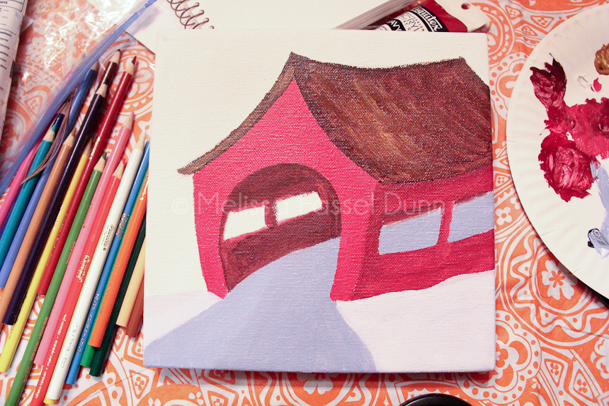 """""""Red Covered Bridge"""" by Melissa Fassel Dunn"""