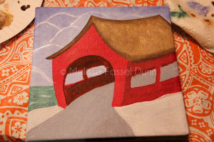 """Covered Bridge,"" Progression IIII by Melissa Fassel Dunn"