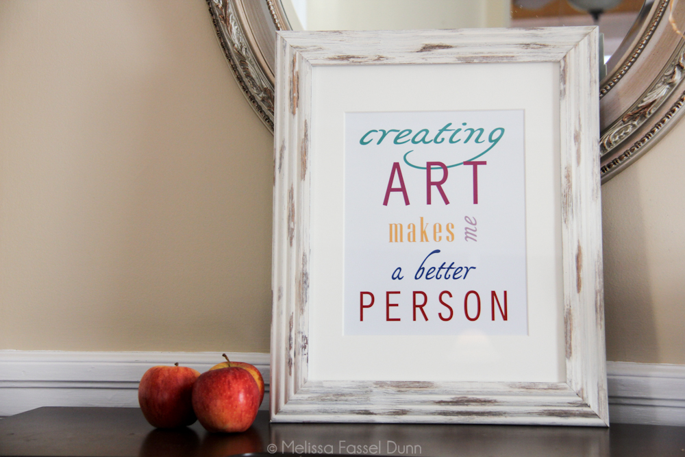 Creating Art Makes me a Better Person, by Melissa Fassel Dunn