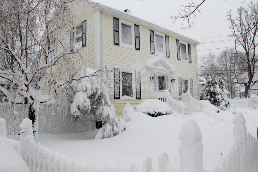 Our house survived Blizzard Nemo 2013!