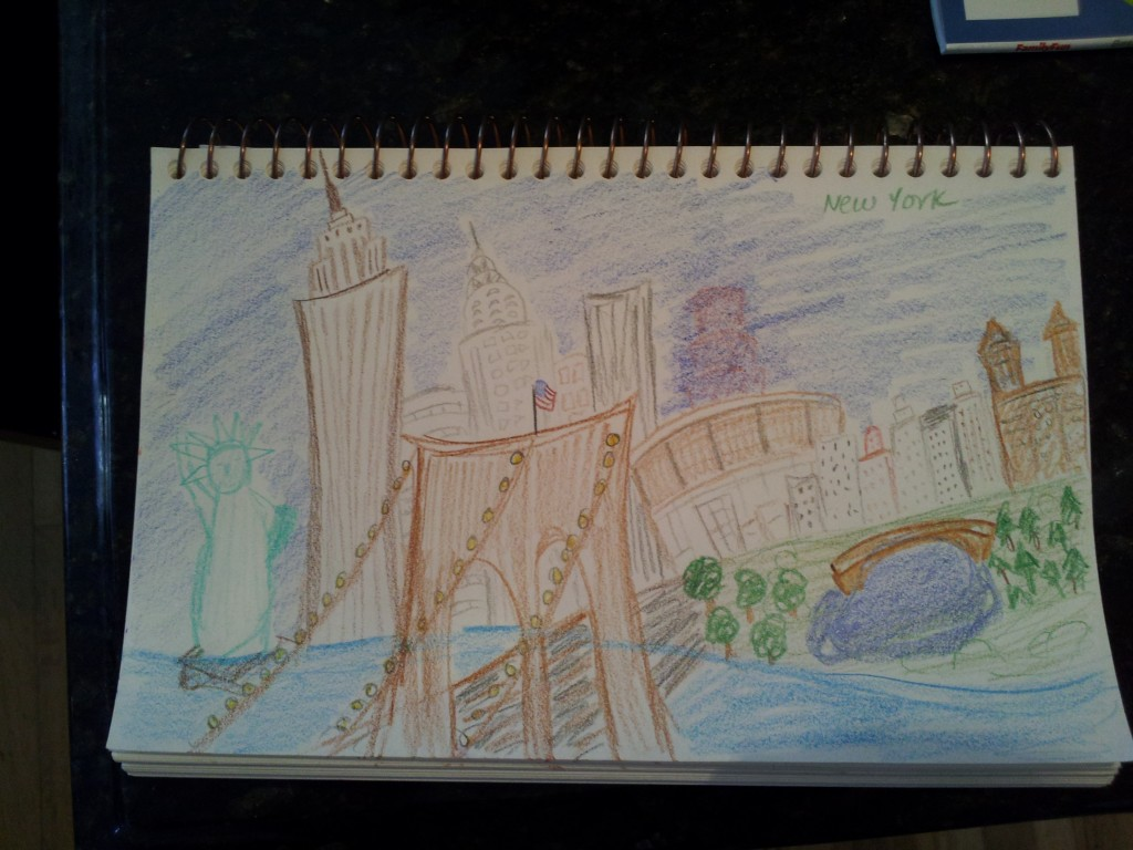 """New York, New York,"" by Melissa Fassel Dunn (sketch)"