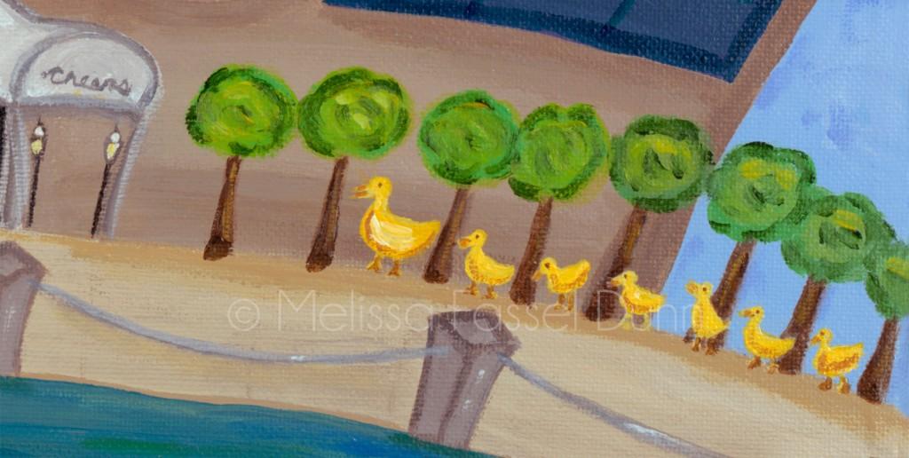 "The Boston Common Ducklings in ""A Bit O' Boston"" by Melissa Fassel Dunn"