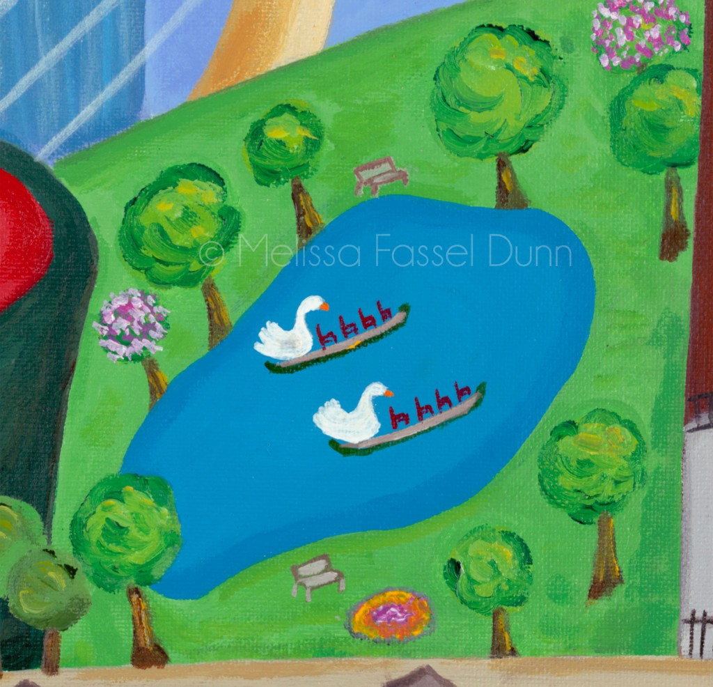 "The Swam Boats in ""A Bit O' Boston"" by Melissa Fassel Dunn"