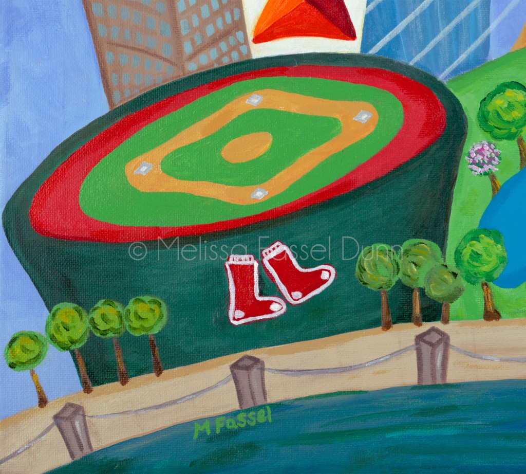 "Check out Fenway Park in ""A Bit O' Boston"" by Melissa Fassel Dunn"