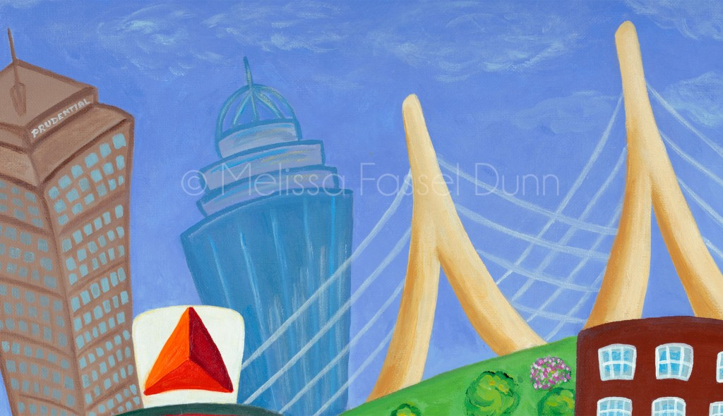 "Check out the Zakim Bridge in ""A Bit O' Boston"" by Melissa Fassel Dunn"