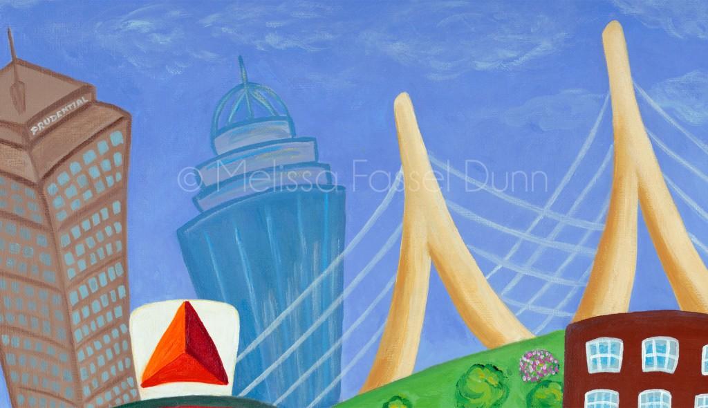 "Check out the Zakim Bridge in ""A Bit O' Boston"" by Melissa Fassel Dunn"
