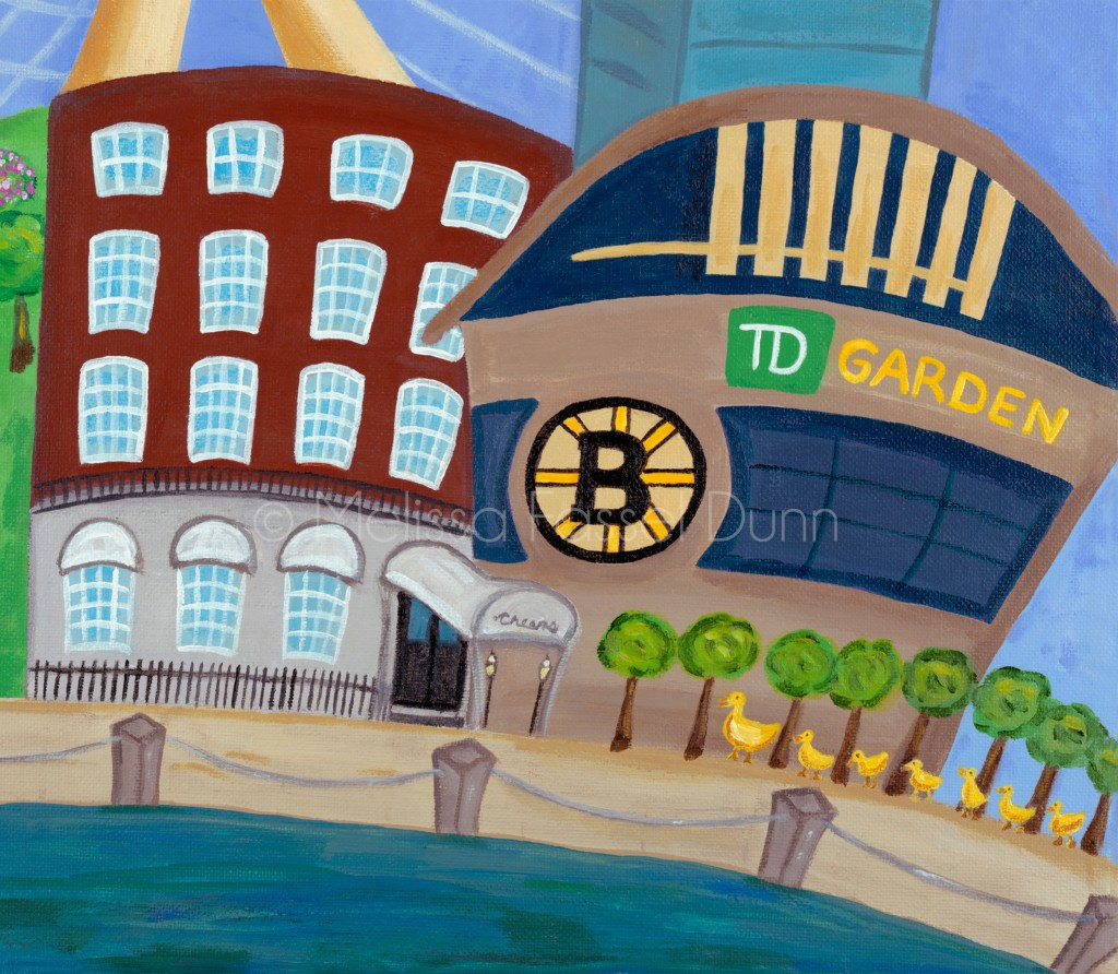 "Cheers and TD Garden in ""A Bit O' Boston"" by Melissa Fassel Dunn"