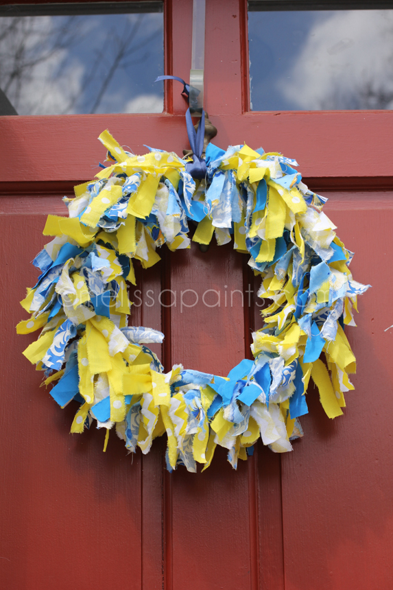 Finished Fabric Wreath