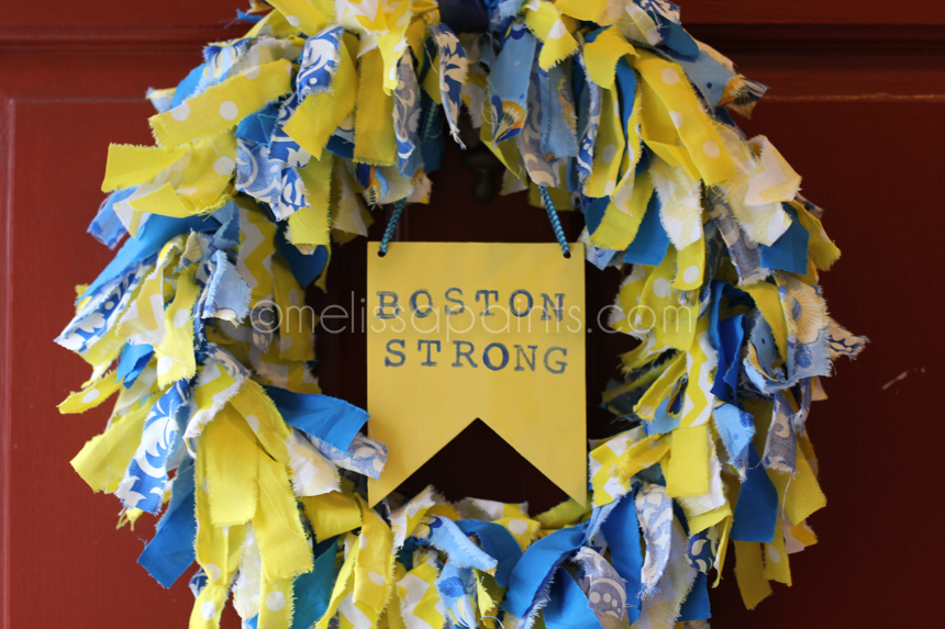 Finished Boston Strong wreath
