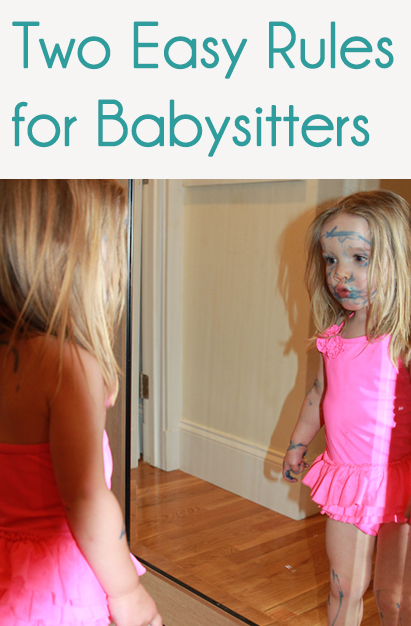 Two Easy Rules for Babysitters @melissaswhimsy