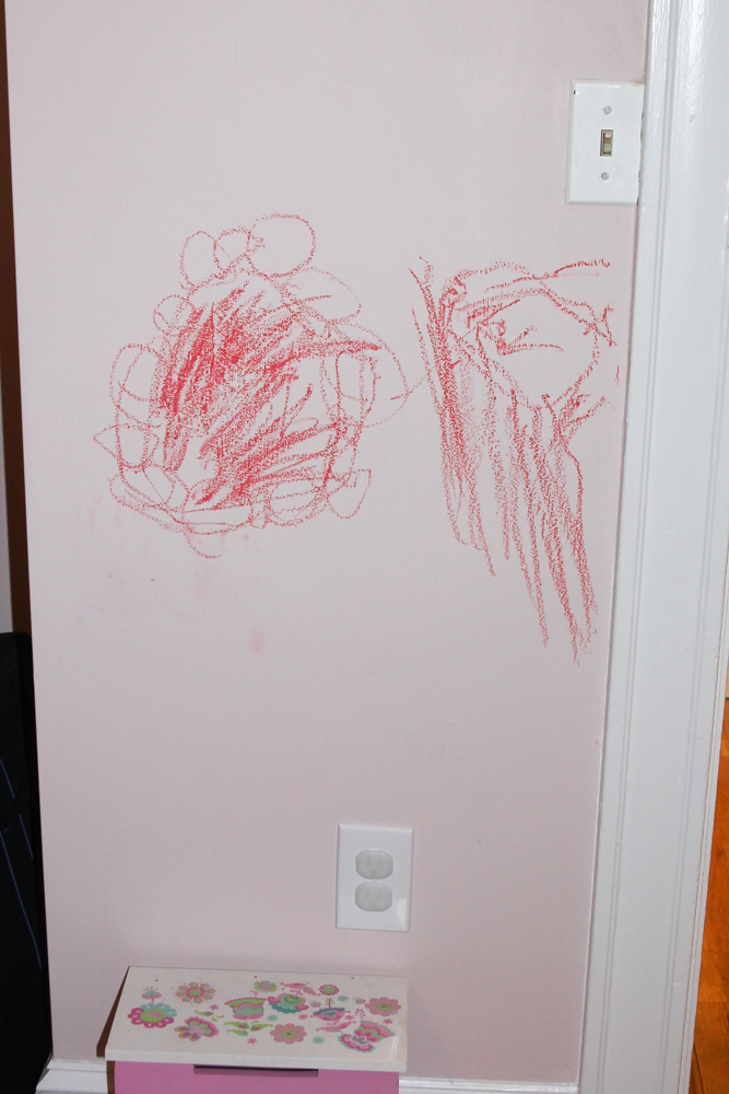 Wall art by a 2 year old @melissaswhimsy